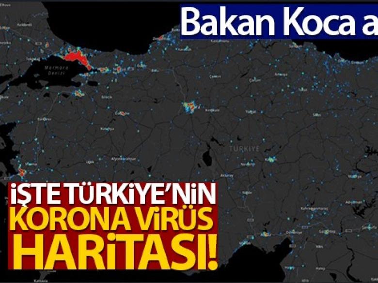 Virüs vakalarının yoğun olduğu illerin haritası açıklandı!