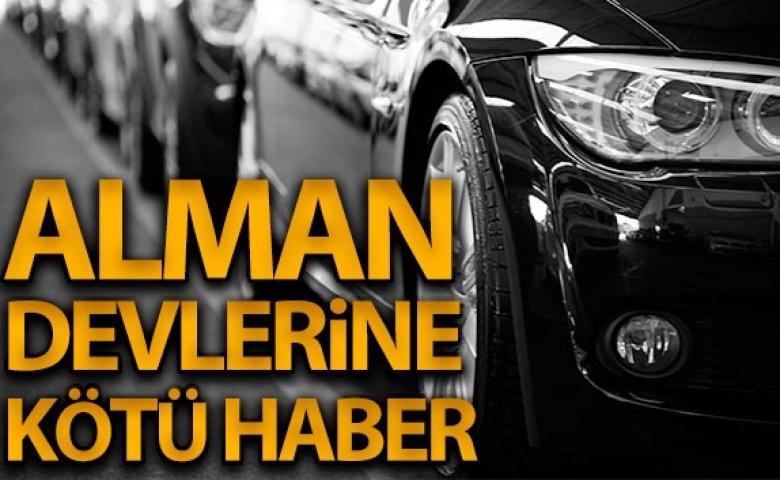 Alman devi otomobil firmalarına kötü haber