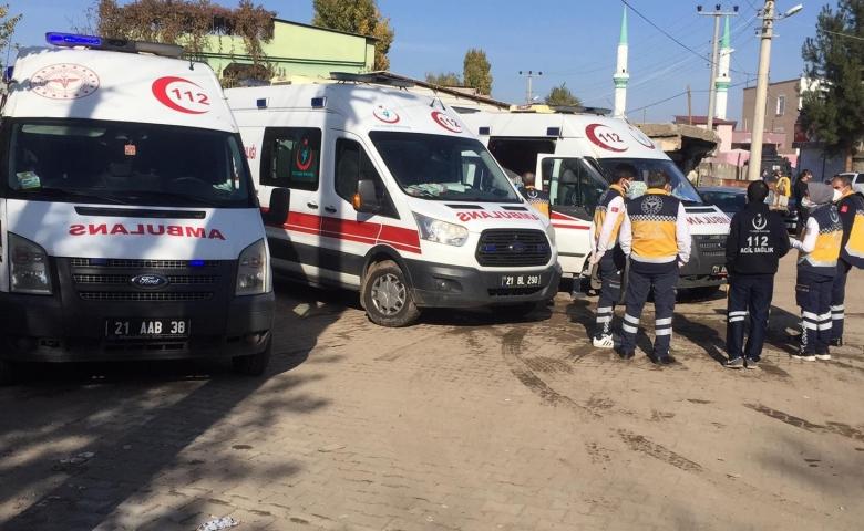 Diyarbakır'da kısıtlama saatinde taşlı sopalı ev bastılar