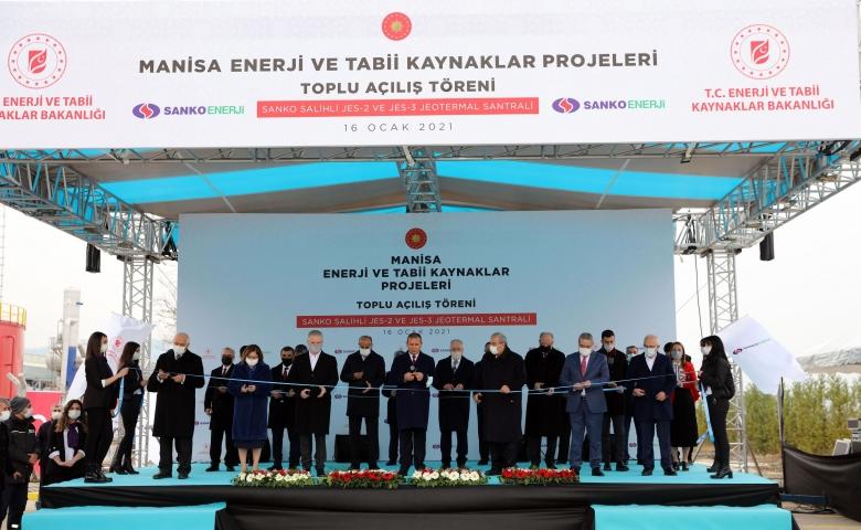 SANKO Enerji Salihli JES açılışını Cumhurbaşkanı Erdoğan yaptı