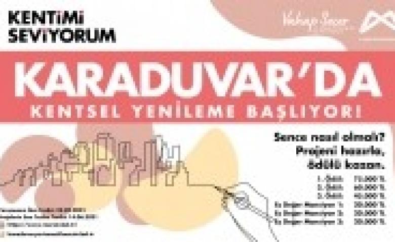 Karaduvar Mahallesi için kentsel yenileme yarışması yapılıyor