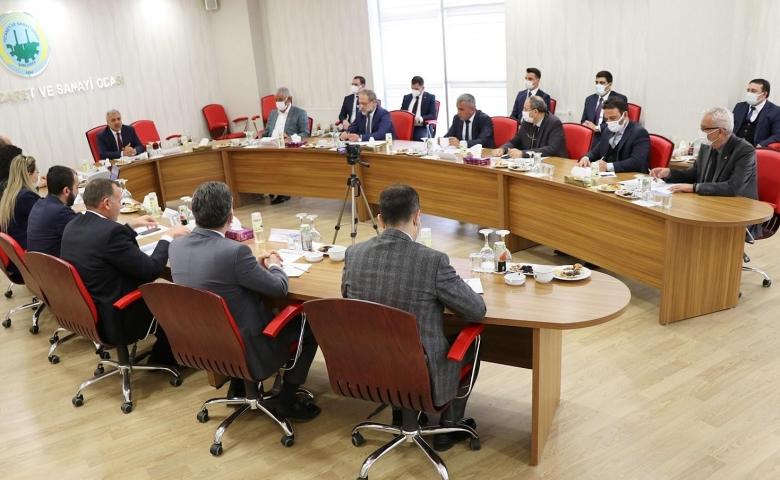 Şanlıurfa TSO bölgedeki iş dünyasının temsilcilerine ev sahipliği yaptı