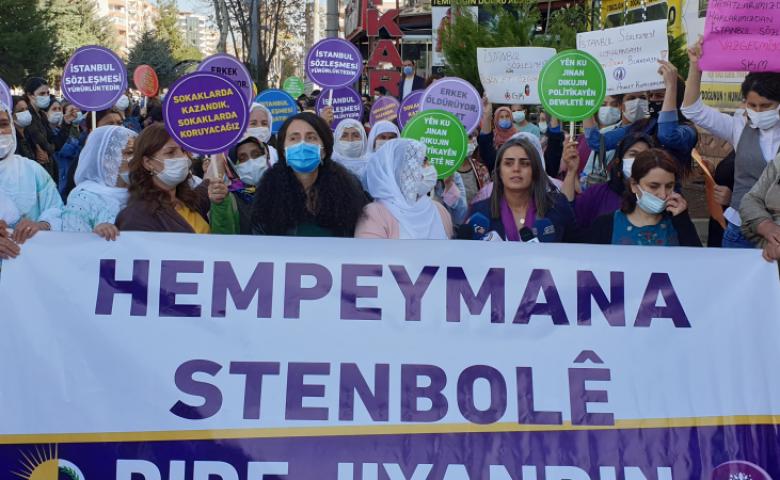 HDP Kadın Meclisinden İstanbul Sözleşmesi eylemi: Kadınlara geri adım attırmayacaksınız