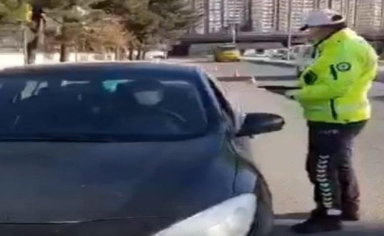 Polis uygulamasında 55 araç trafikten men edildi