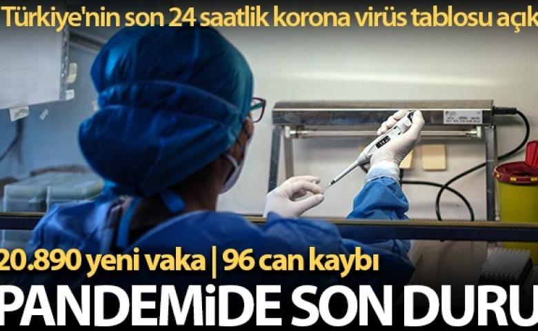 Türkiye'de son 24 saatte 20.890 kişinin testi pozitif çıktı