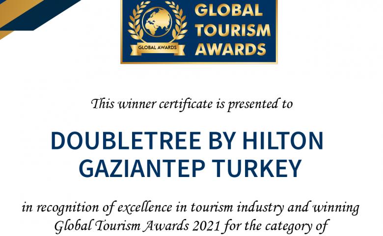 "Double Tree By Hilton Gaziantep ""Best Business Hotel"" katagorisinde birinci oldu"