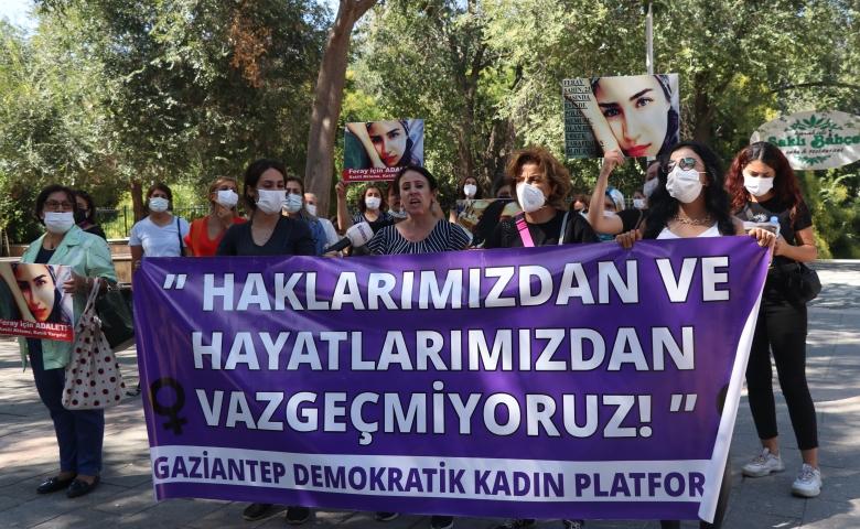 Üniversite öğrencisiyken öldürülen Feray Şahin, Gaziantep'te anıldı